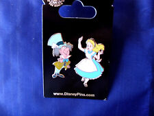 Disney * ALICE & MAD HATTER * Retired - New on Card Wonderland Trading 2 Pin Set