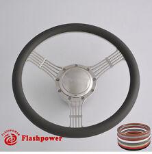 15.5'' banjo steering wheels Dark Gray half wrap GM Fury Belvedere Polara