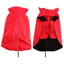 Vestiti e scarpe cappotto rosso senza marca per cani