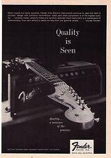 "Vintage 1962 Fender Guitars ""Quality Is Seen"" Print Advertisement"