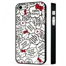 Hello Kitty Cute Quotes BLACK PHONE CASE COVER fits iPHONE