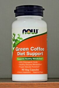 Now Green Coffee Diet Support 90 Capsules Supports Healthy Metabolism