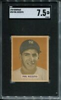 1949 Bowman Baseball #98 Phil Rizzuto Card Graded SGC Nr Mint+ 7.5 Yankees '49