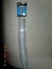 Jot MAGNIFYING RULER 12 INCH (30 cm) CLEAR PLASTIC RULER