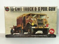 Airfix 1/35 Chevrolet 15-CWT Truck and six pounder gun modello kit model 1:35