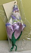 Patricia Breen Bluebell Santa Lilac Glass Ltd 200 Wm Andrews Exc 1999 #9995 Nib