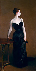 Madame X, John Singer Sargent, 1884, Dress, Museum Grade, Poster / Canvas Print
