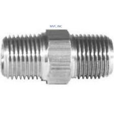 "HEX NIPPLE 1/4"" Male NPT x 1/4"" Male 316 STAINLESS STEEL HIGH PRESSURE <015NW"