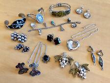 & Alpaca Bracelets Earrings & Pendants Vintage Large Lot Mexican Sterling Silver