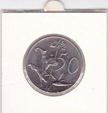 50 cents Südafrika 1971 Wappen Blume flower South Africa