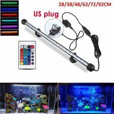 Aquarium Fish Tank Led Light Rgb Submersible Light Bar Lamp Lighting Waterproof