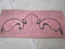 Carton de dentelle ancienne aux fuseaux 31,6 cm x 14 cm