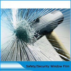 8/12Mil Safety&Security Window Film Clear Glass Protection 90% UV rejection