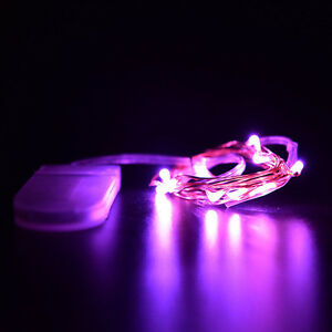 1M 10 LED Strip Wire Mini Fairy Light String 8 Colors Battery Power Operated