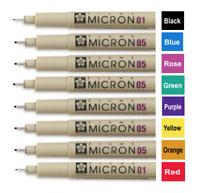 Pigma Micron Pen Bible Study Marking Kit - 01 Fine & 05 Medium Point (Pack of 8)
