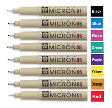 Pigma Micron Pen Bible Study Marking Kit - 01 Fine & 05 Medium Point (Pack of 8)
