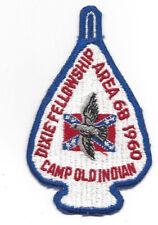 OA 1960 Dixie Fellowship Patch Host 185 Atta Kulla Kulla Old Indian [LMT887]