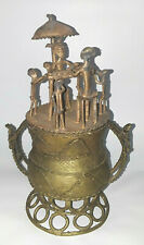 New listing Antique Urn African Ashanti Akan Bronze Gold Weight Dust Brass Rice Container