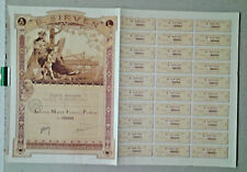 ACTION DE MILLE FRANCS IMPRIMERIE E SIRVEN TOULOUSE 1921 LOIR LUIGI ART NOUVEAU