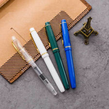 Wing Sung 9159 Transparent Plastic Fountain Pen Extra Fine EF Nib 0.38/0.5mm New