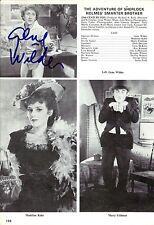 Gene Wilder signed Sherlock Holmes Magazine Page - Vintage - Willy Wonka