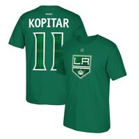 Anze Kopitar Reebok Los Angeles Kings St. Patricks Day Tartan Jersey T-Shirt