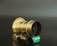 ancient !! 'Jamin Paris' from 1854 Petzval Brass Lens 150mm F3.6 wet plate 4x5