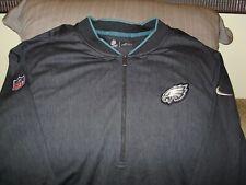 8bf8668da NFL Philadelphia Eagles Nike Dri-fit Black Coaches 1 2 Zip Golf Jacket Men