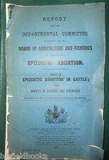 Report on Epizootic Abortion in Cattle - Edwardian Farming - 1910 Agriculture