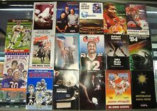 1984 USFL Football Set of 17 Media Guides (-1 for completion)