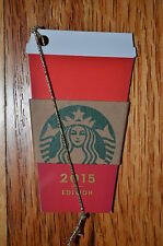 """Canada Series Starbucks """"RED CUP 2015"""" Mini Gift Card - New No Value"""