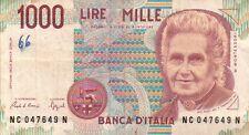 BANCONOTA ITALIANA DA 1000 LIRE MONTESSORI SERIE NC SC-7