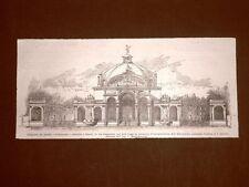 Napoli nel 1900 Auditorium in via Caracciolo Inaugurazione Esposizione d'igiene
