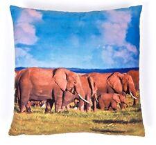 Photographic Elephant Square Cushion African Wildlife Safari