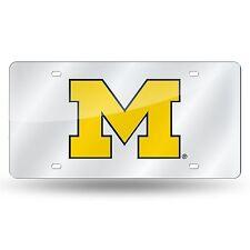 Rico NCAA Michigan Wolverines Laser Cut Mirror Auto Tag Car License Plate LZS
