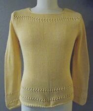TALBOTS Yellow 100% COTTON Sweater Size MEDIUM