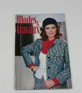Modes & Travaux Vintage French Fashion Sewing Knitting Magazine February 1978