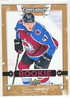 2017-18 Upper Deck Compendium GOLD ROOKIE RC Dominic Toninato  #878
