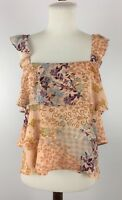 Where Are You From (WAYF) Womens Sadie Tiered Crepe Crop Tank Top Size M NWT