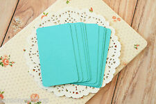 SEAGRASS Aqua Business Cards blank handmade wedding DIY save the date name card