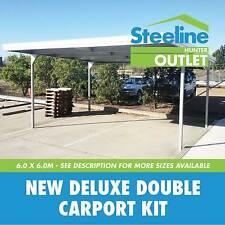 New Deluxe Double Carport Kit - 6.0m x 6.0m