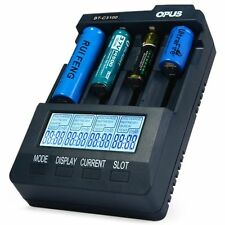 New EU PLUG Opus BT - C3100 V2.2 Digital Intelligent 4 Slots LCD Battery Charger