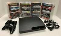 Sony PS3 Playstation 3 Lot w/ 6 Games, & NEW Controllers & Cables - Tested!