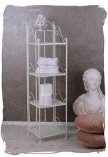 Cuarto de baño estante landhaus Weiss estante Antik estante de hierro Shabby Chic