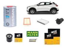Kit Filtri Tagliando Nissa Juke F15 1.5 DCi 81 Kw 110 Hp + 5 Litri Olio Nissan