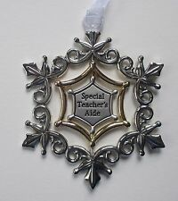 ccd Special Teacher's Aide ORNAMENT swirling 3d Snowflake Ganz car charm opens