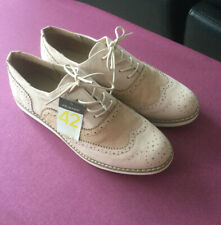 Ladies Nude Colour Brogues Size 8