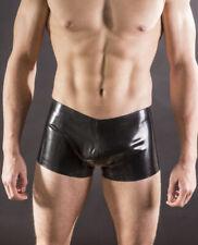 Fetish Latex Shorts Rubber Club High Waist Swimwear Breifs Black Slim 0.4mmS-Xxl