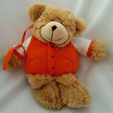 "Teddy Bear Plush Galerie Reeses Candy Tan 10"" Stuffed Orange Fleece Jacket"