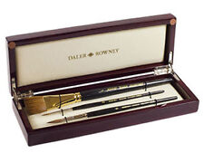 DALER ROWNEY ARTISTS DIANA WATERCOLOUR PAINT BRUSH SET LUXURY WOODEN GIFT BOX